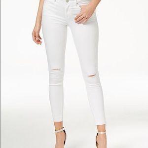 William Rast ankle skinny white jeans NWT